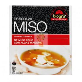 SOPA DE MISO CON ALGAS WAKAME 4x10Gr. BIOGRA