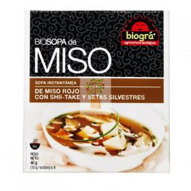 SOPA MISO CON SHII-TAKE Y SETAS SILVESTRES 4x10Gr. BIOGRA