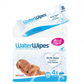 WATER WIPES 4x60 Toallitas húmedas bebé