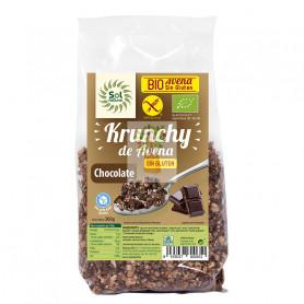 KRUNCHY AVENA S/G CHOCOLATE BIO 350Gr. SOL NATURAL