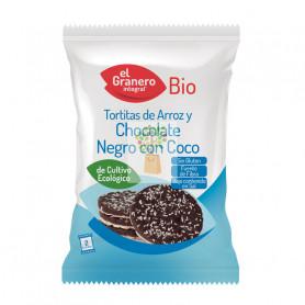 TORTITAS DE ARROZ CON CHOCOLATE NEGRO Y COCO BIO 33Gr. GRANERO