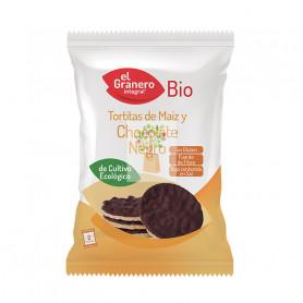 TORTITAS DE MAIZ CON CHOCOLATE NEGRO BIO 33Gr. GRANERO