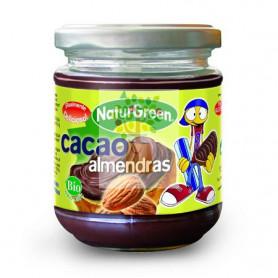 CREMA DE ALMENDRAS Y CACAO 200Gr. NATURGREEN
