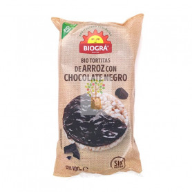 BIO TORTITAS DE MAIZ CON CHOCOLATE NEGRO 95Gr. BIOGRA