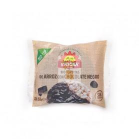 BIO TORTITAS DE ARROZ CON CHOCOLATE NEGRO 33Gr. BIOGRA