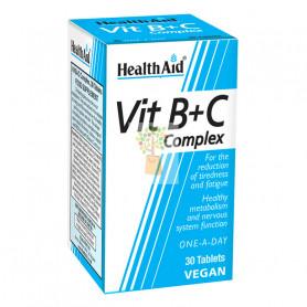 COMPLEJO B+C 30 COMPRIMIDOS HEALTH AID