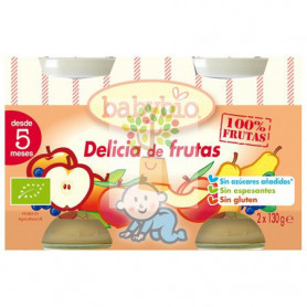 BABYBIO DELICIA DE FRUTAS 2x130Gr. BABYBIO